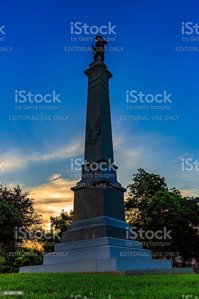 Hood's Texas Brigade monument stock photo