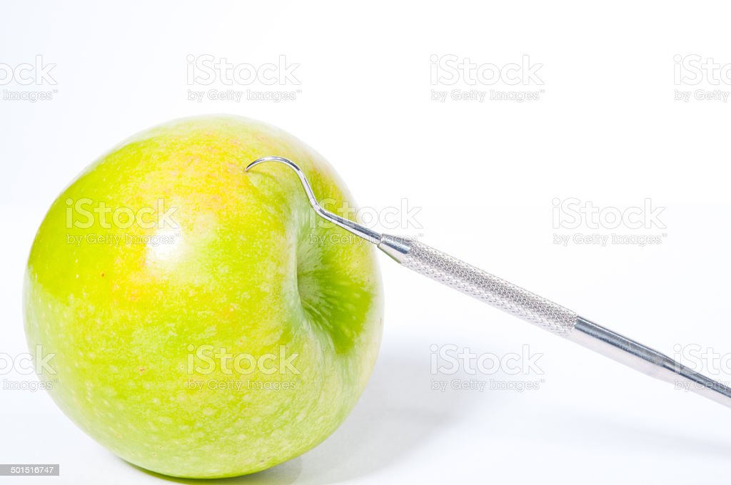 Hook and apple stock photo
