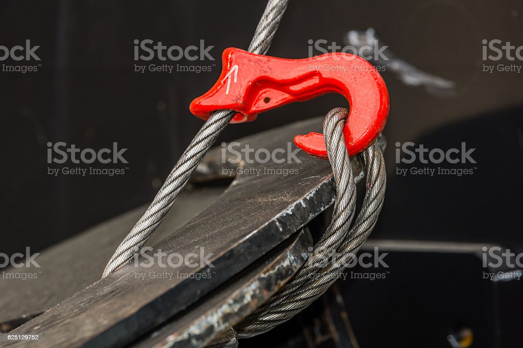 Hook and cable stock photo