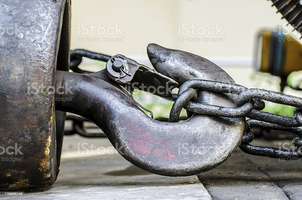 hook crane on the ground royalty-free stock photo
