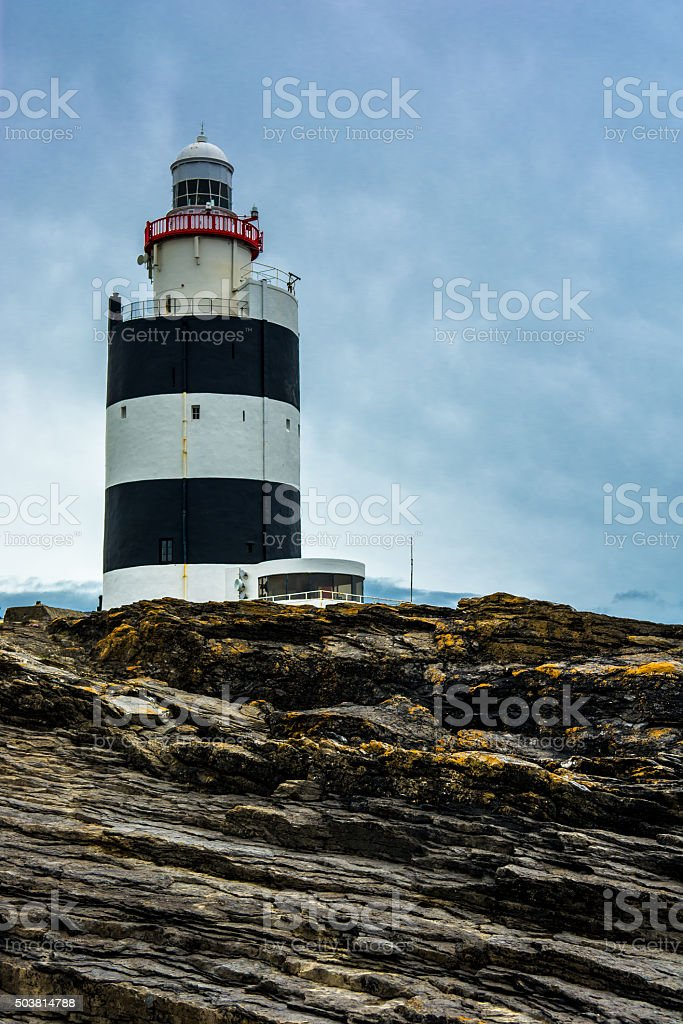 Hook Head Lighthouse near Waterford in Ireland stock photo