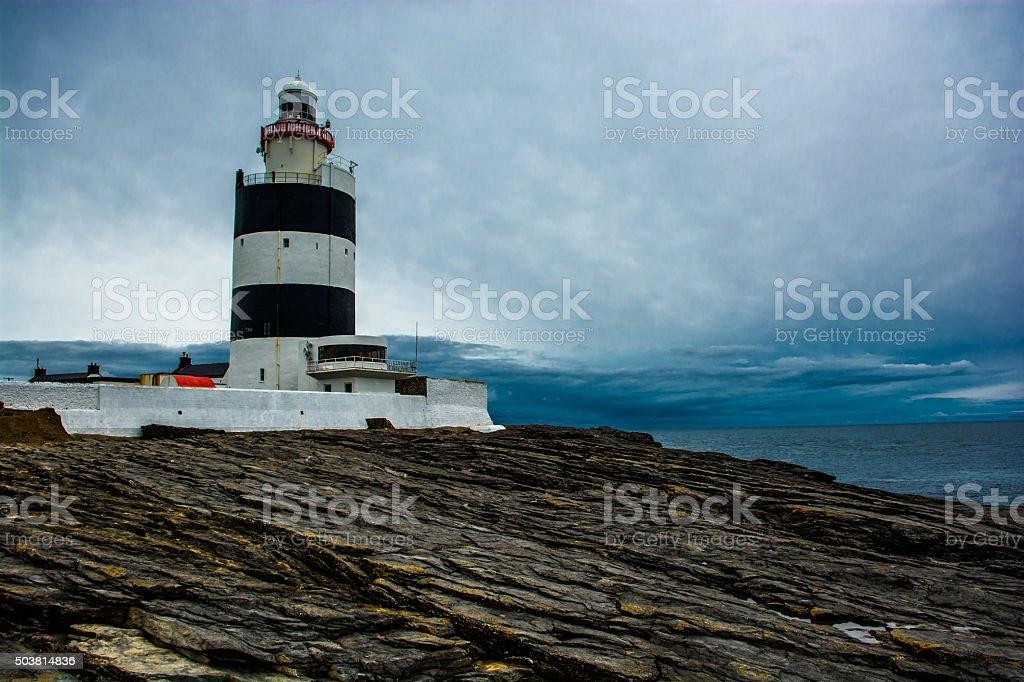 Hook Head Lighthouse near Waterford in Ireland stock photo