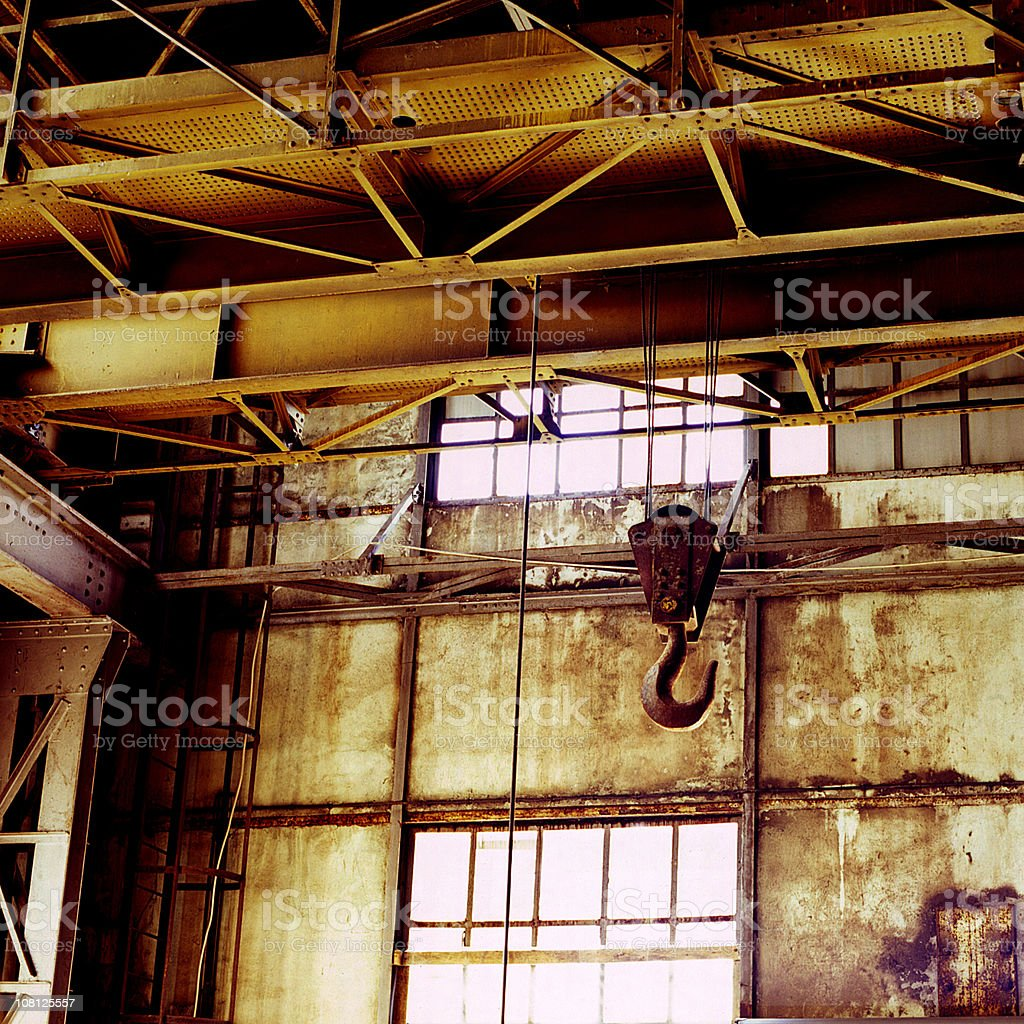Hook in Old, Desolute Factory royalty-free stock photo