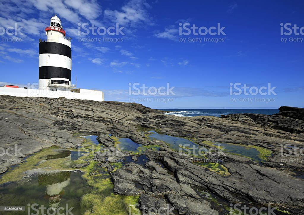 Hook Lighthouse at Hook Head, County Wexford, Ireland. stock photo