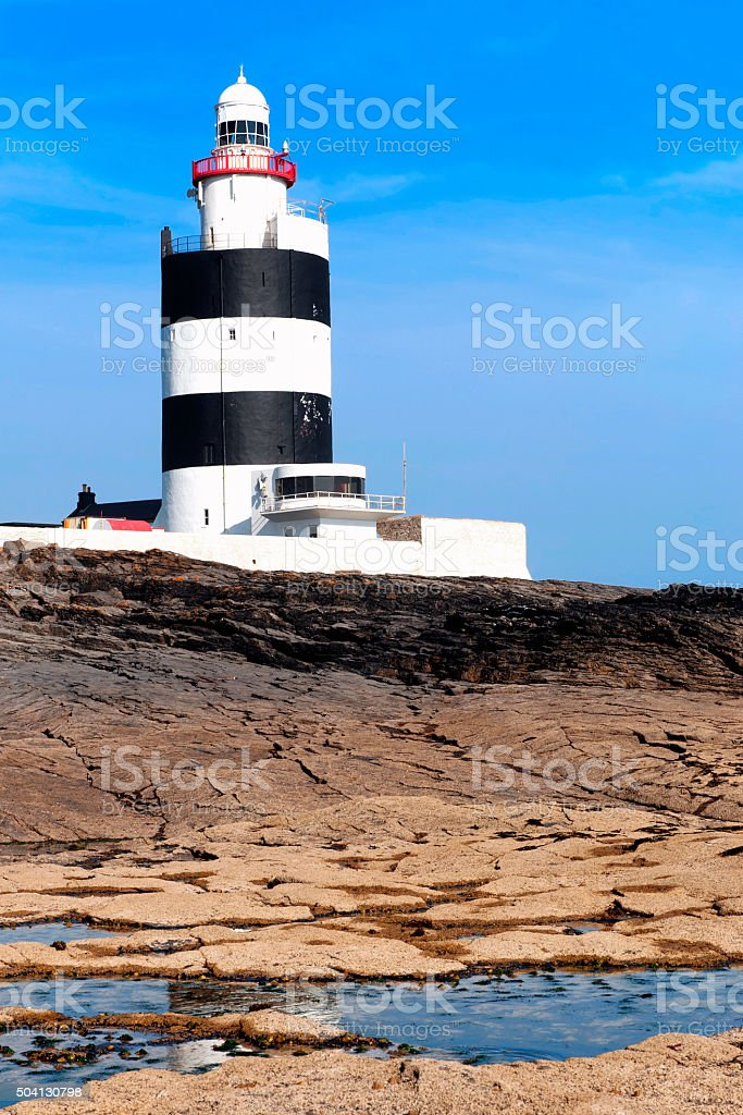 Hook Lighthouse at Hook Head, County Wexford, Ireland stock photo