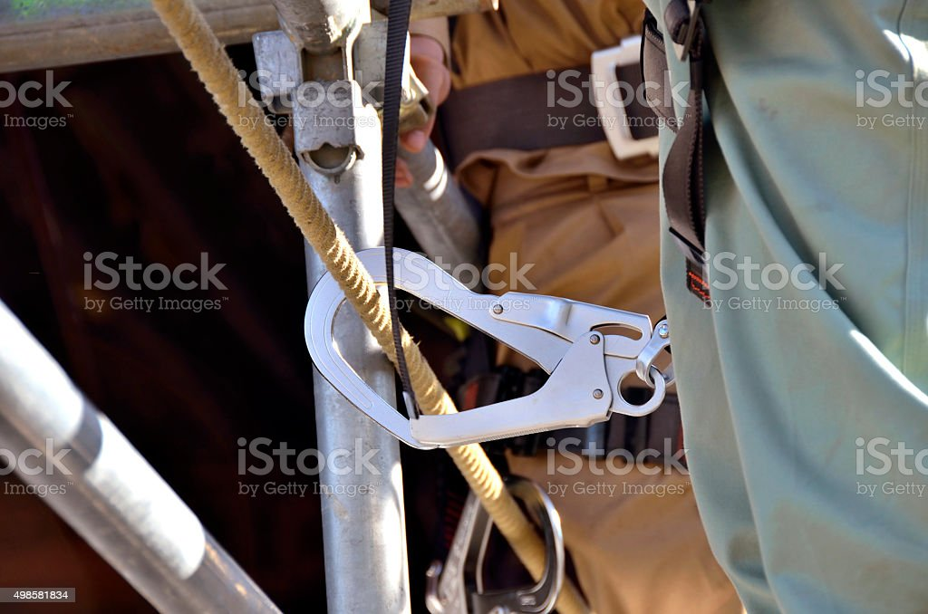 hook of safety belt stock photo