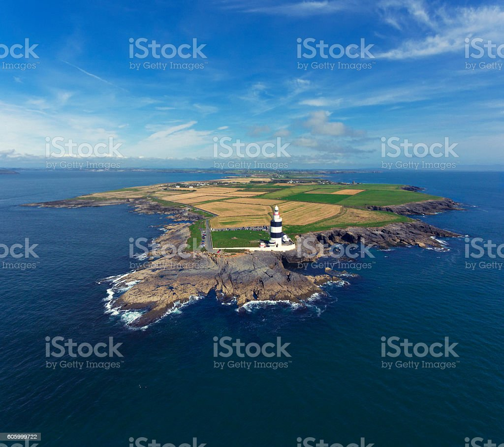 Hook peninsula and lighthouse in Ireland stock photo