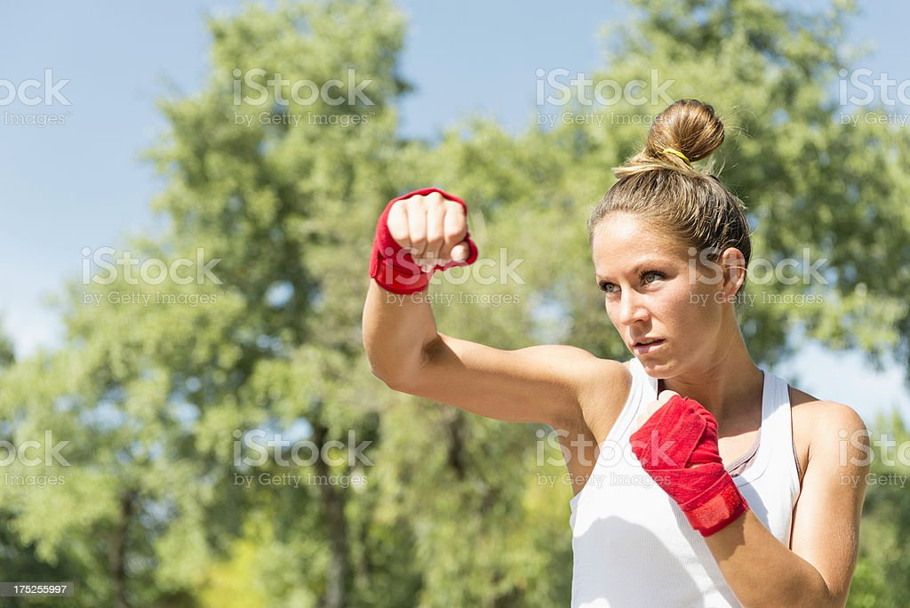 Hook punch stock photo