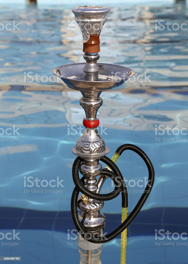 Hookah -- also known as waterpipe, narghile,arghila  or shisha stock photo