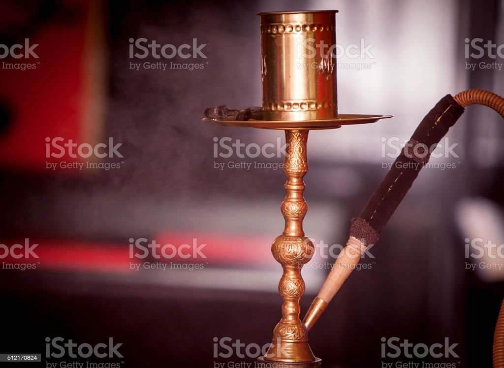 hookah hot coals for smoking and leisure in natural lighting stock photo