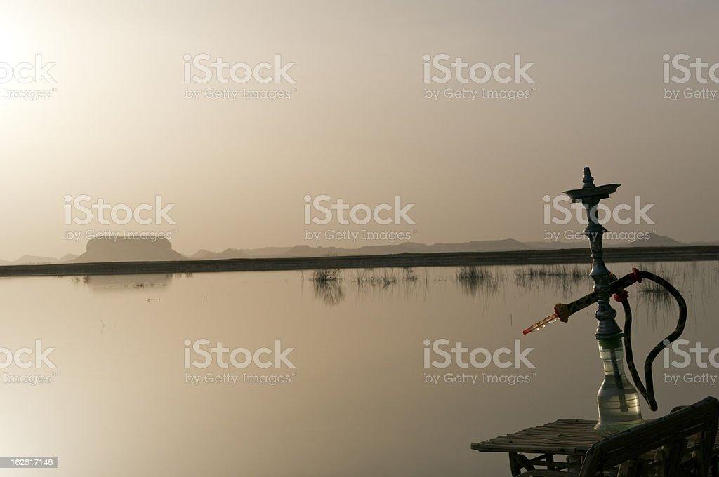 Hookah in Egypt at Lake Siwa stock photo