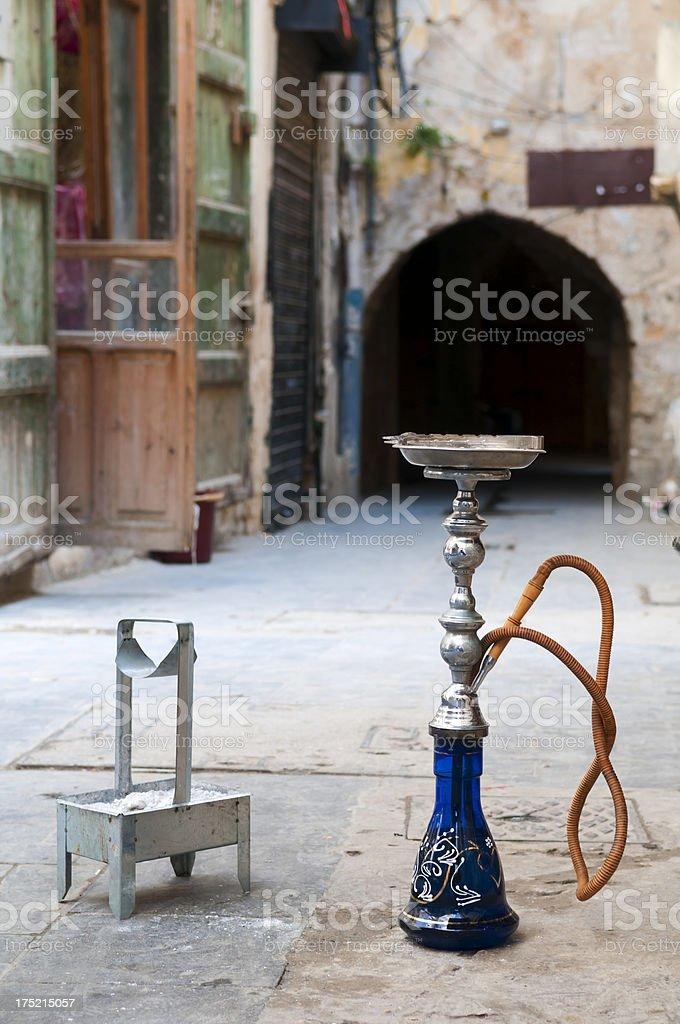 Hookah in the Middle East (Sidon, Lebanon) stock photo
