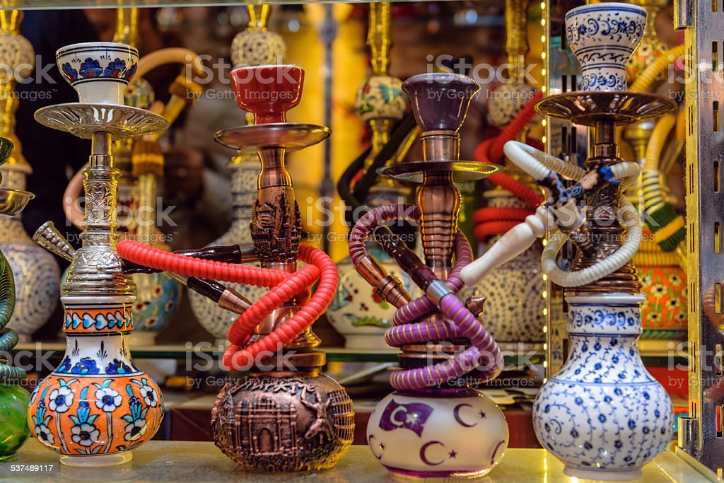 Hookah ( waterpipe, narghile,arghila or shisha) Istanbul Turkey stock photo