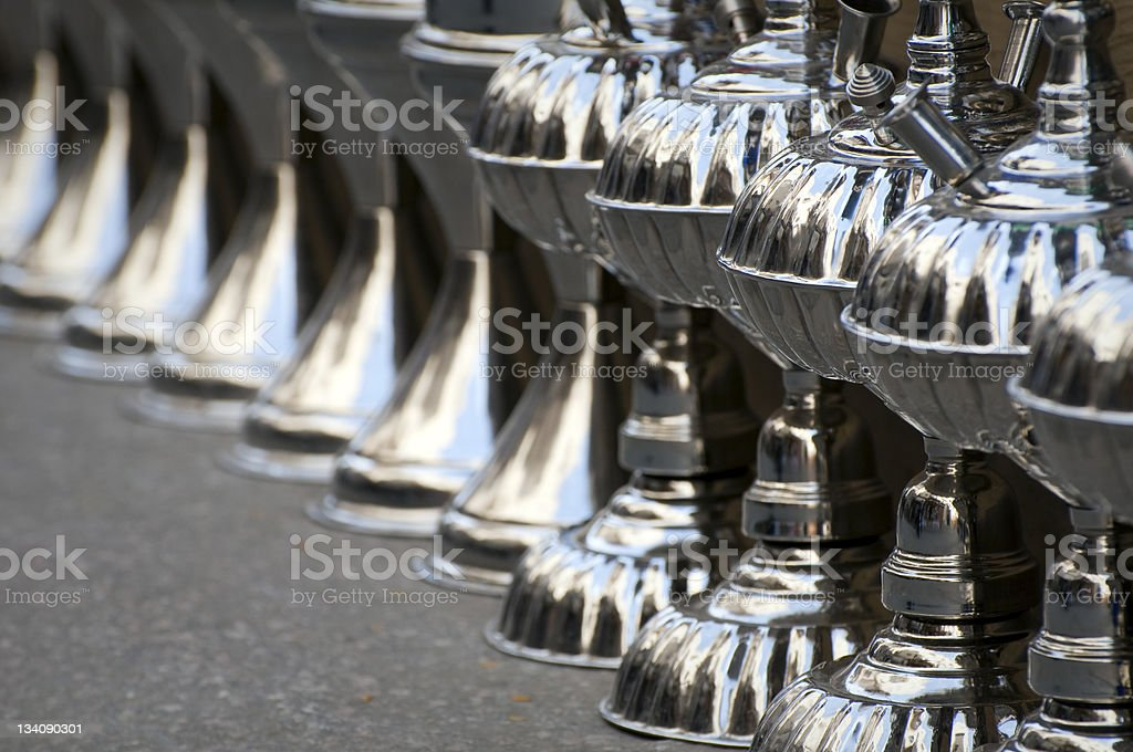 Hookah pipes in Cairo, Egypt stock photo