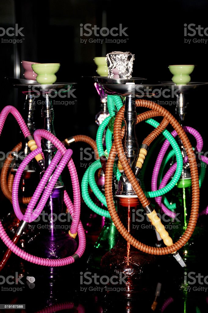Hookah pipes. stock photo
