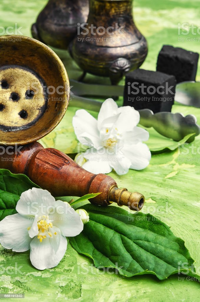 hookah with flavor of Jasmine stock photo