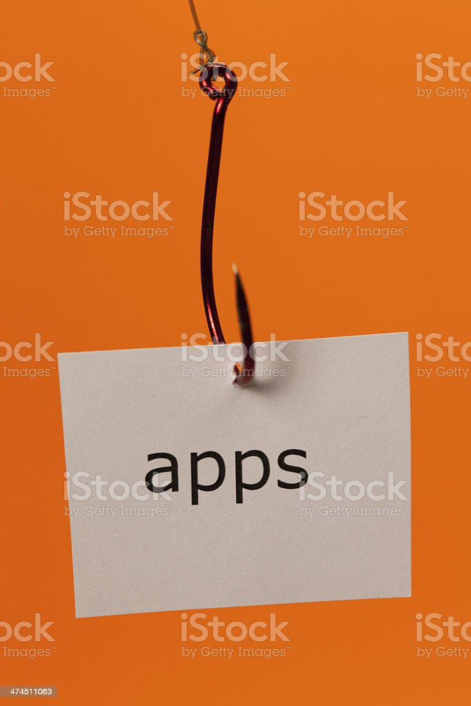 Hooked on Apps royalty-free stock photo