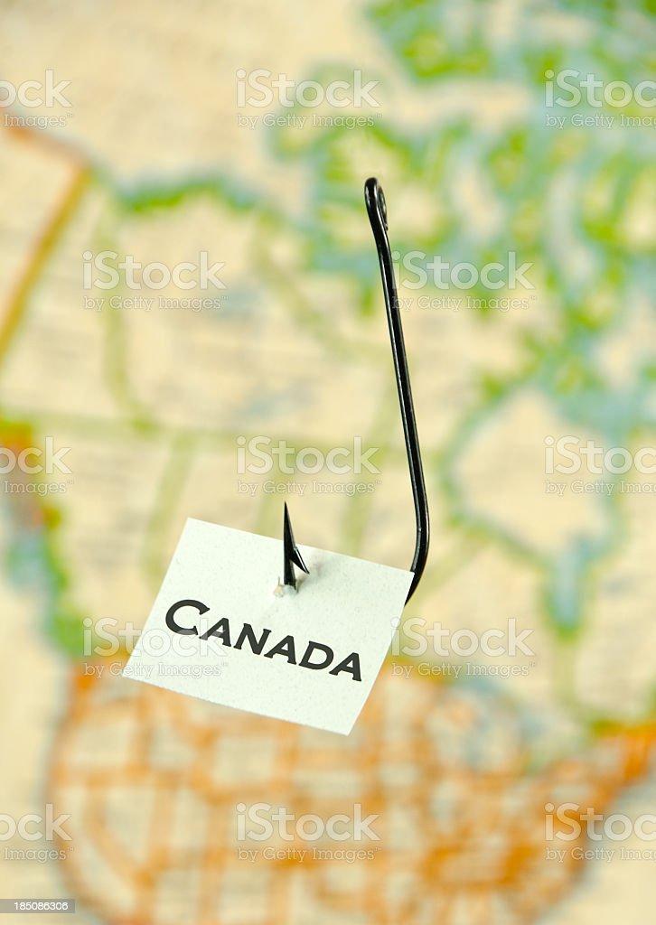 Hooked on  Canada stock photo