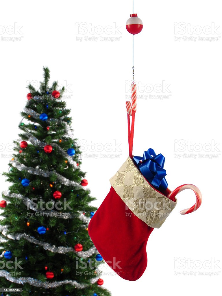 Hooked on Christmas royalty-free stock photo
