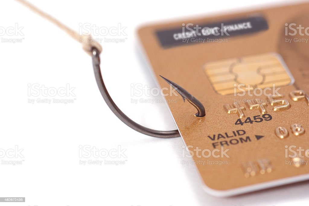 Hooked on Credit - Series royalty-free stock photo