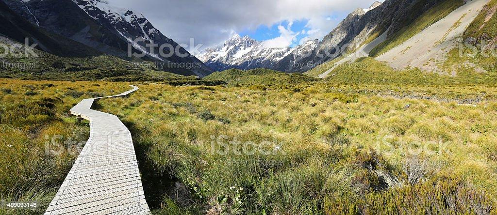 Hooker Valley Track - New Zealand stock photo