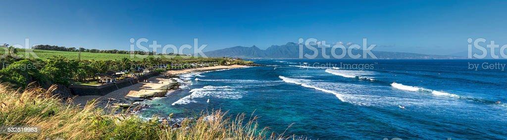 Ho'okipa Beach Park, north shore of Maui, Hawaii stock photo