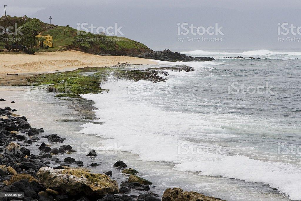Hookipa beach stock photo