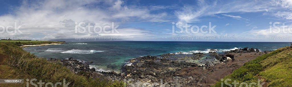 Hookipa National Park Beach Maui Hawaii Panorama XXXL stock photo
