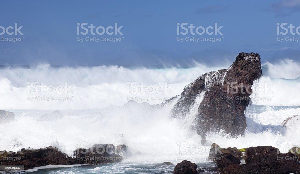 Hookipa Rocks, Maui stock photo
