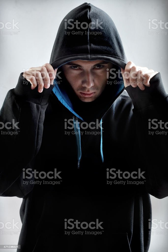 Hooligan / Hip hopper royalty-free stock photo