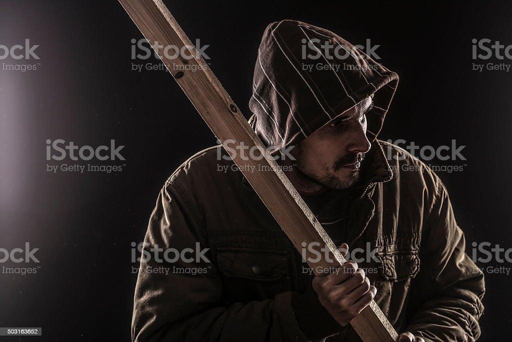 Hooligan stock photo
