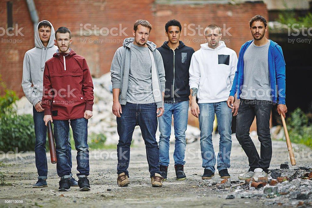 Hooligans stock photo