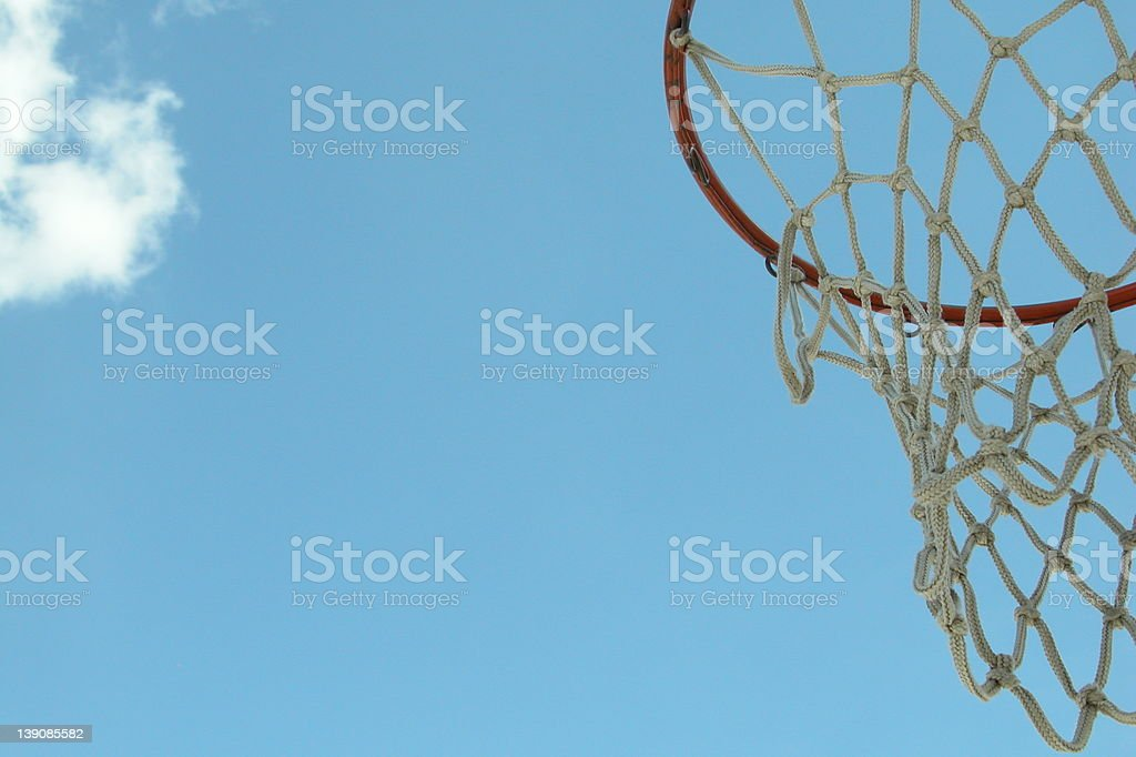 hoop and sky royalty-free stock photo