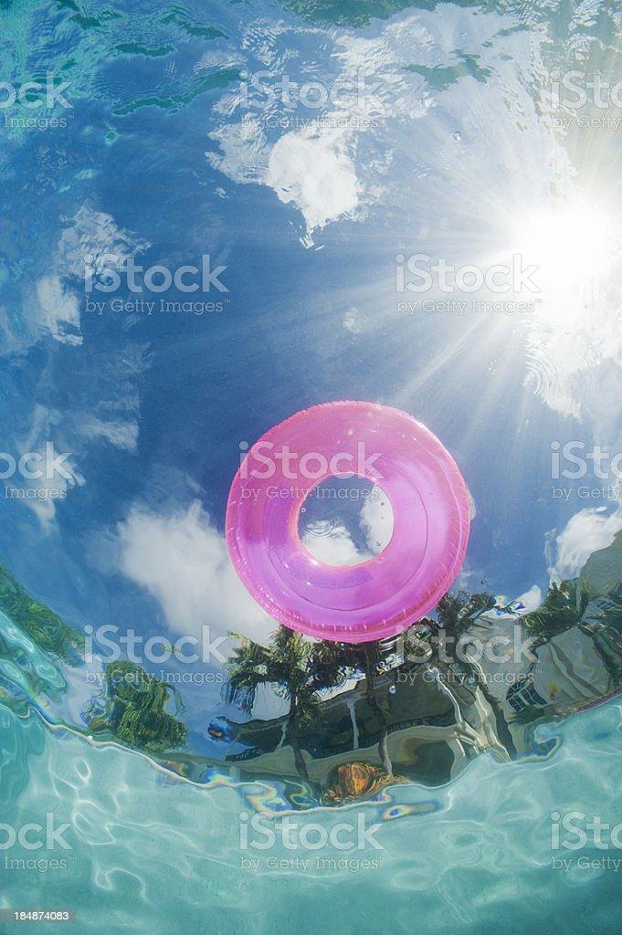 Hoop in Pool royalty-free stock photo