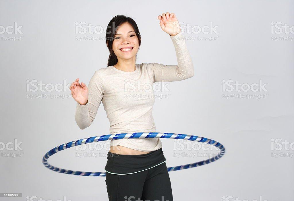 Hooping woman royalty-free stock photo