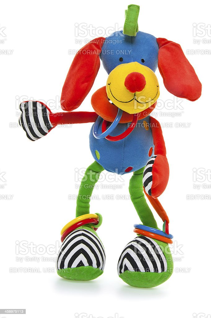 Hoopy Loopy Dog Baby Toy stock photo