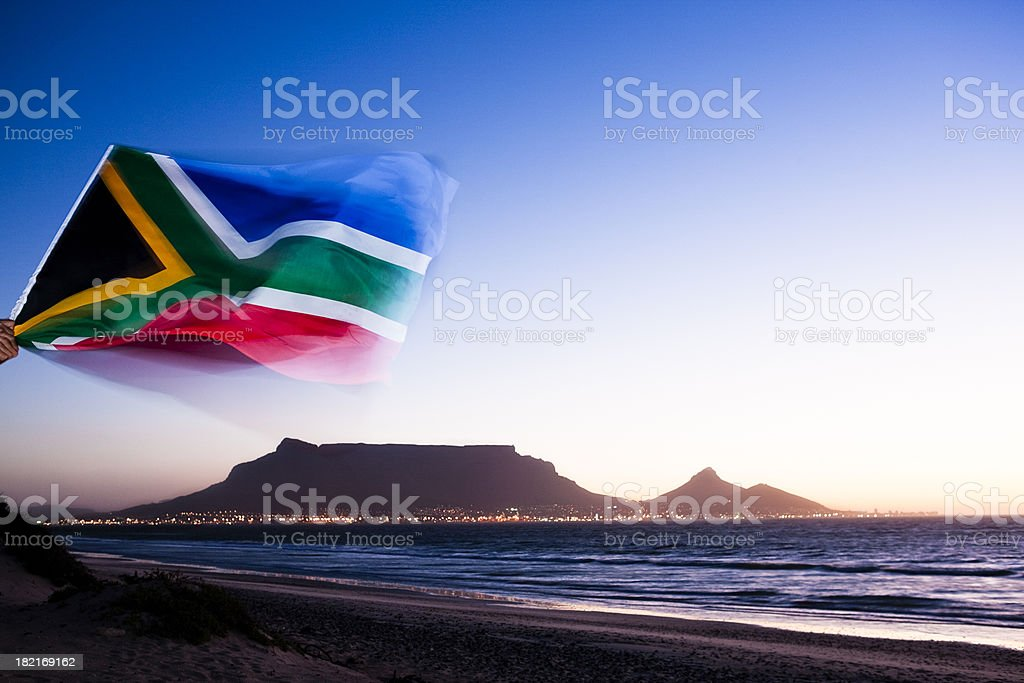 Hooray for Cape Town! stock photo