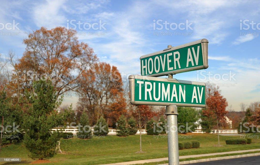 Hoover and Truman stock photo