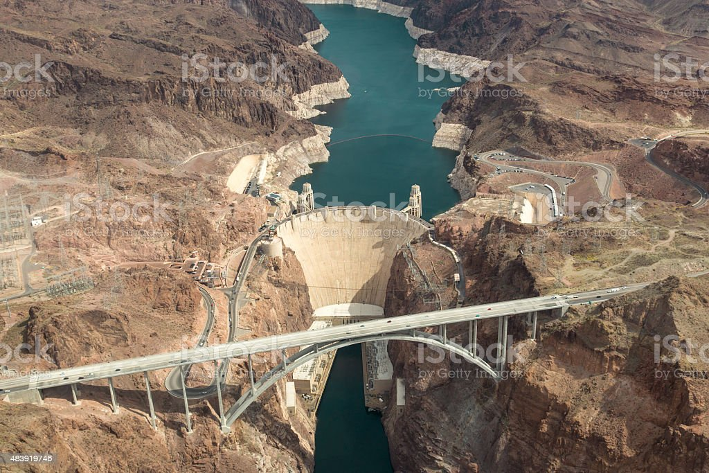 Hoover Dam Aerial View stock photo