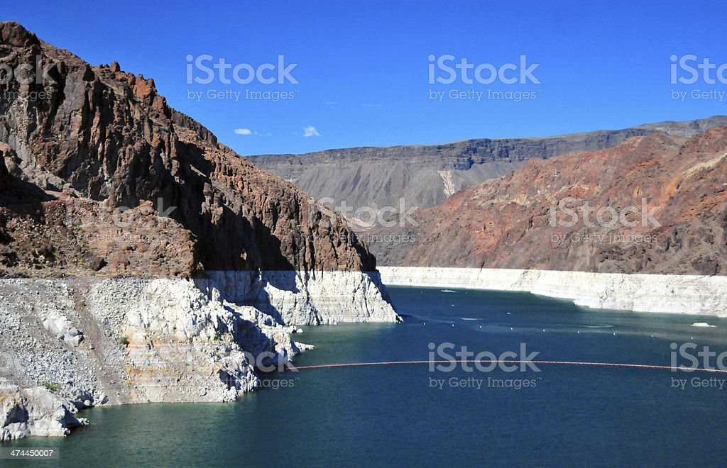 Hoover Dam - Arizona / Nevada state border stock photo