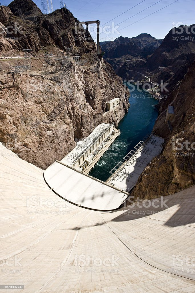 Hoover Dam Black Canyon USA royalty-free stock photo
