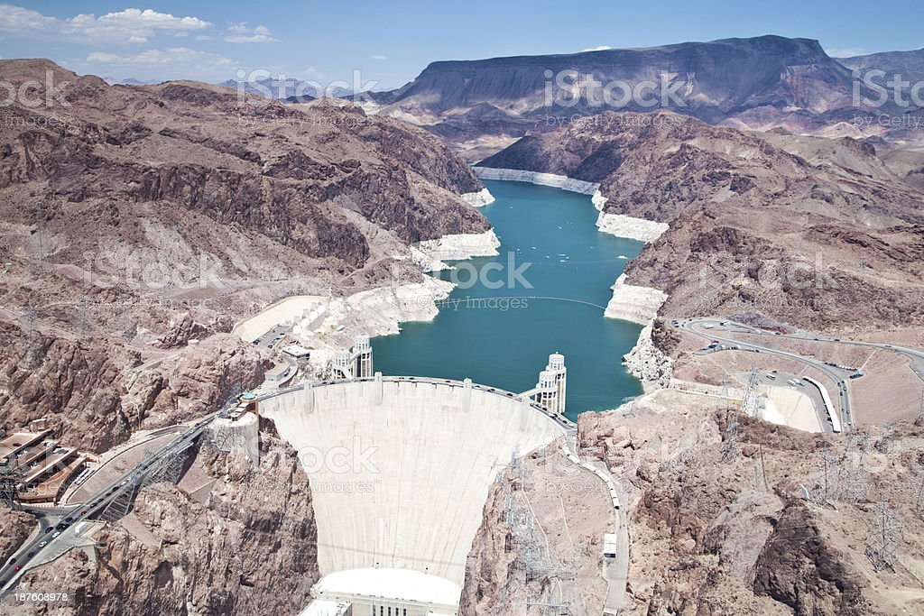 Hoover Dam in Arizona and Nevada royalty-free stock photo