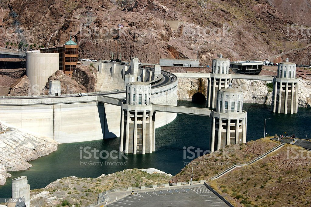 Hoover Dam - Intake Complex royalty-free stock photo