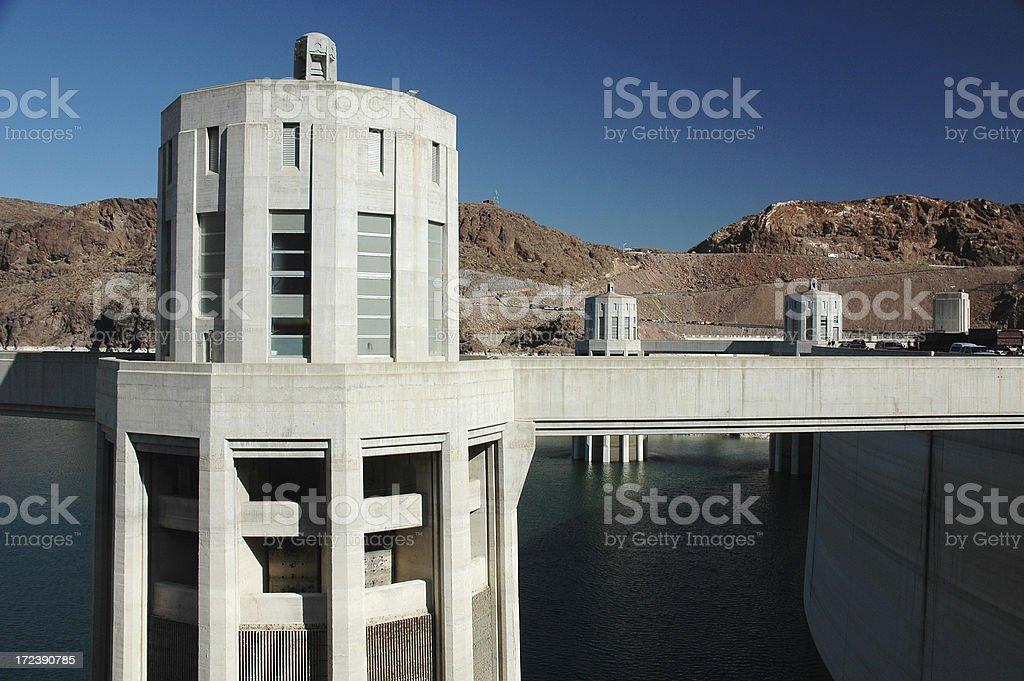 Hoover Dam Intake Tower. royalty-free stock photo
