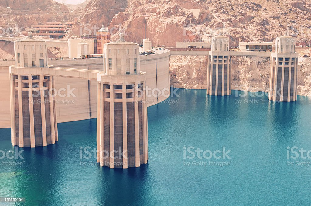 Hoover Dam royalty-free stock photo