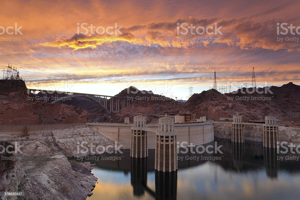 Hoover Dam. stock photo