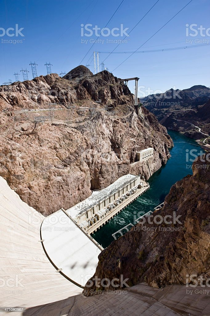 Hoover Dam USA stock photo