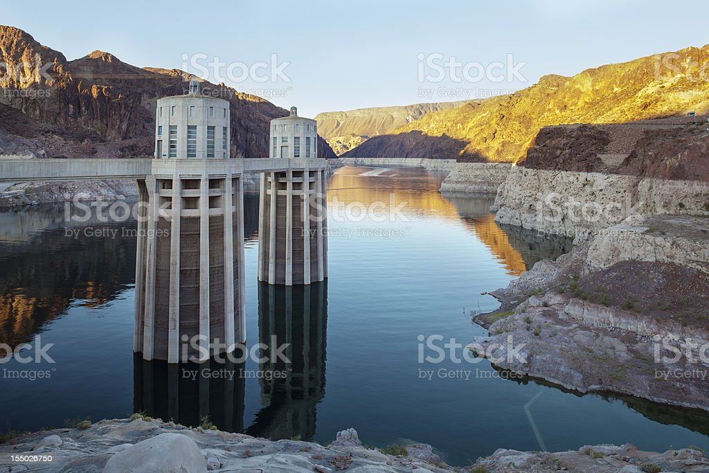 Hoover Dam Water Electricity Power Station USA stock photo