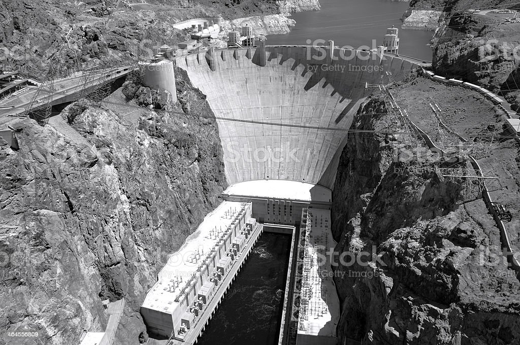 Hoover Damn View stock photo