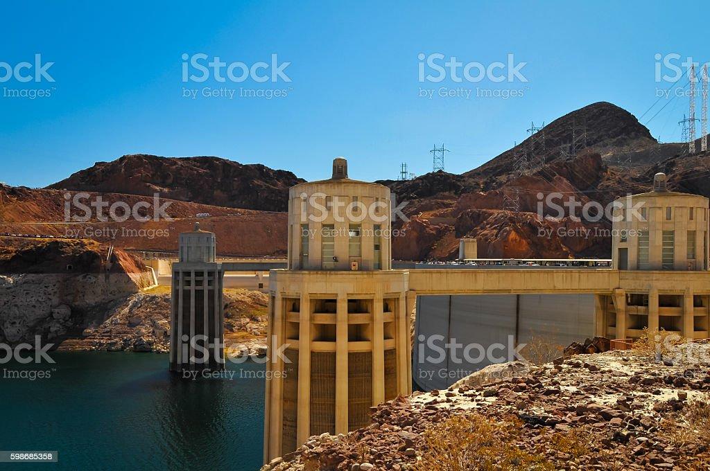 Hoover Dam's Turbine stock photo
